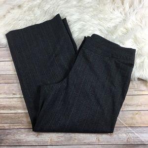 Lane Bryant Pants Pinstriped Wide Leg Knit